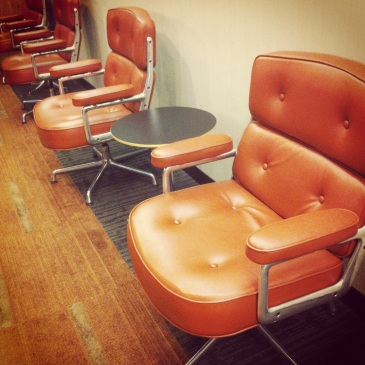 Mid century modern furniture at Kellogg School of Business